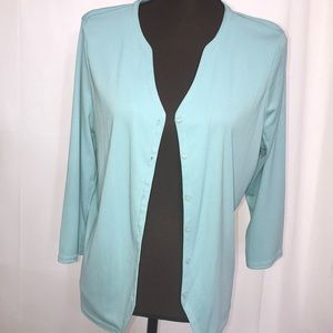 Women's Top - Jacket NWT Size L 3/4 Sleeves NICE!